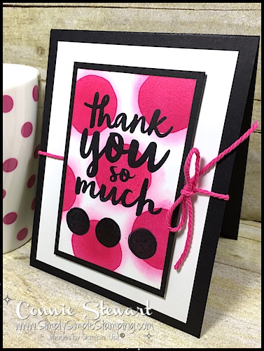 Make It in Minutes – Polka Dotted Thank You Card – Video No. 8