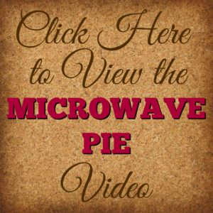 Make incredible pies in your Microwave! Flaky and delish! Check it out at www.SimplySimpleStamping.com and look for the October 29, 2016 blog post