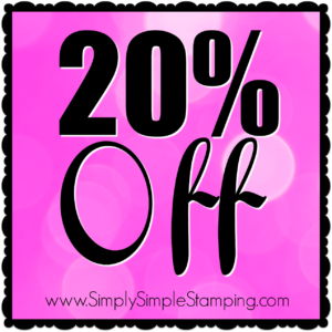 Get 20% off these fabulous Stamping' Up products through November 28, 2016! Order at www.SimplySimpleStamping.com