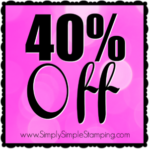 Get 40% off these fabulous Stamping' Up products through November 28, 2016! Order at www.SimplySimpleStamping.com