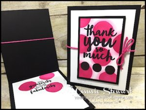 MAKE IT IN MINUTES - Create this Polka Dot Thank You card in a matter of minutes! Check it out at www.SimplySimpleStamping.com - look for the November 3, 2016 blog post