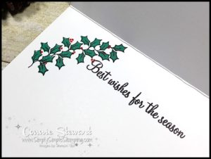 MAKE IT IN MINUTES - Create this beautiful Holly Christmas Wishes Card in a matter of minutes! Check it out at www.SimplySimpleStamping.com - look for the November 23, 2016 blog post