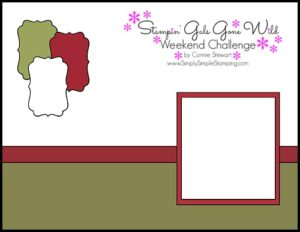 Stampin' Gals Gone Wild Weekend Challenge for November 25, 2016 - check it out at www.SimplySimpleStamping.com