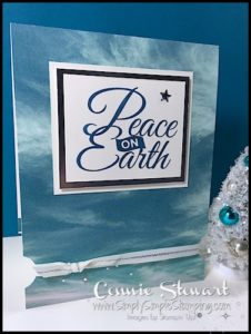 MAKE IT IN MINUTES - Create this beautiful Serene Peace on Earth Card in a matter of minutes! Check it out at www.SimplySimpleStamping.com - look for the December 1, 2016 blog post
