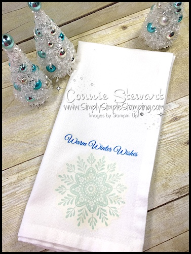 Video Tutorial – Stamped Cloth Napkins