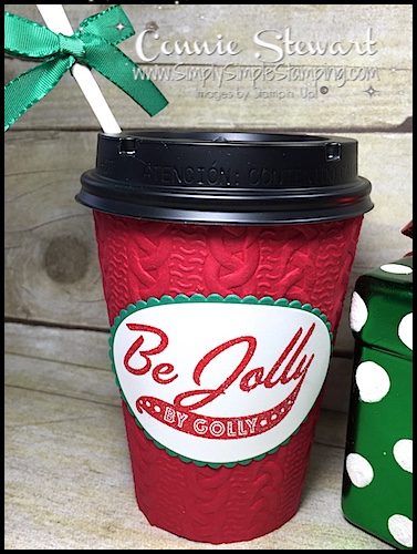 Video Tutorial – Be Jolly By Golly To Go Cup