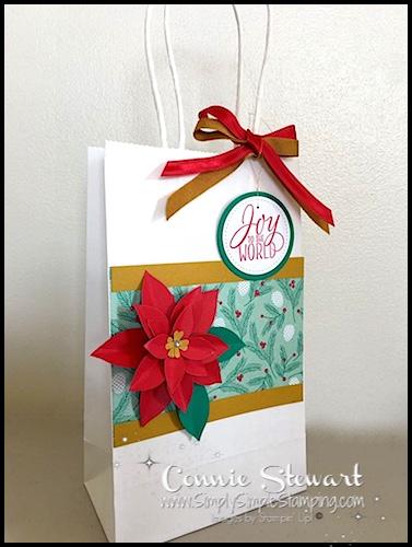 Make It Monday – Poinsettia Gift Bag