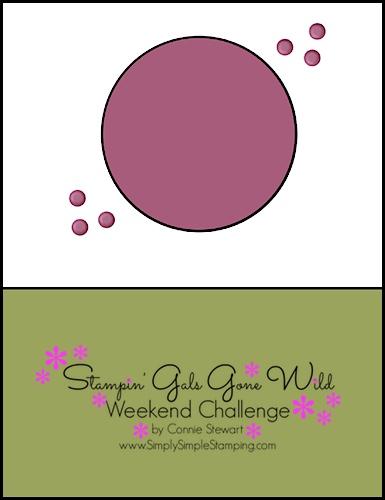 Stampin' Gals Gone Wild Weekend Challenge
