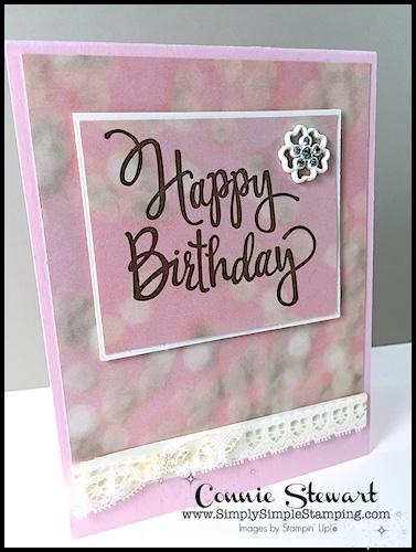 MAKE IT IN MINUTES Mini Series: STYLIZED BIRTHDAY – Card #3