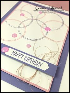Make It Monday - QUICK & EASY BIRTHDAY CARD - download the FREE tutorial at www.SimplySimpleStamping.com - look for the April 10, 2017 blog post!