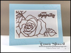 2-Minute Tuesday Tip - Vellum Tip #1 - Heat Emboss - check out the video at www.SimplySimpleStamping.com and look for the April 11, 2017