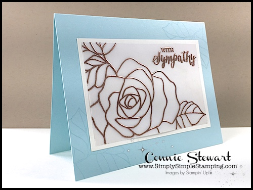 2 minute tuesday tip vellum tip 1 heat embossing for Simply simple