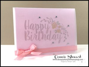 2-Minute Tuesday Tip - Vellum Tip #2 - Card Cover - check out the video at www.SimplySimpleStamping.com and look for the April 18, 2017