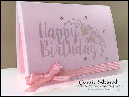 2-Minute Tuesday Tip – Vellum Tip #2 Create a Card Cover