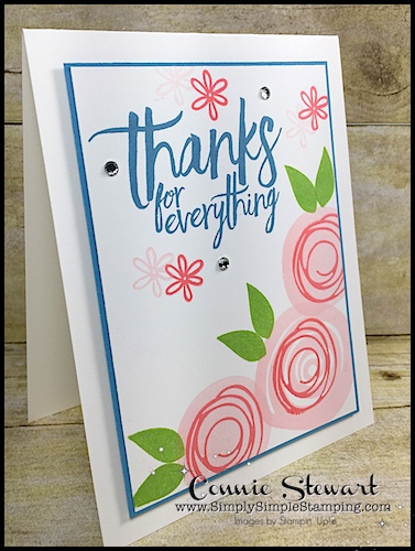 MAKE IT IN MINUTES – Swirly Thanks Card