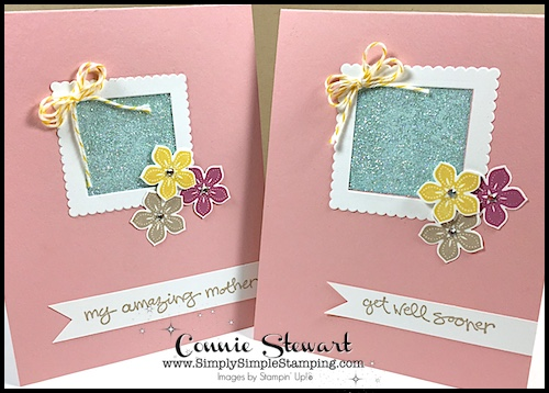FLASH CARD – Packing Tape Glitter Window Card – Video No. 94