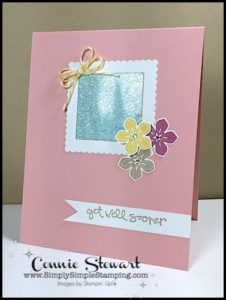 FLASH CARD by Connie Stewart - Packing Tape Glitter Window Card - check it out at www.SimplySimpleStamping.com - look for the April 14, 2017 blog post