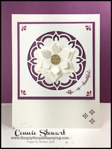 Make It Monday - Life is Beautiful CARD - download the FREE tutorial at www.SimplySimpleStamping.com - look for the May 1, 2017 blog post!