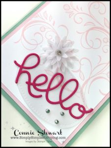 2-Minute Tuesday Tip - Vellum Tip #4 - Vellum Flowers - check out the video at www.SimplySimpleStamping.com and look for the May 2, 2017
