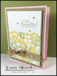 2-Minute Tuesday Tip - Vellum Tip #5 - Coloring Vellum - check out the video at www.SimplySimpleStamping.com and look for the May 9, 2017