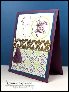 Make It Monday - EASTERN PALACE CARD - download the FREE tutorial at www.SimplySimpleStamping.com - look for the May 22, 2017 blog post!