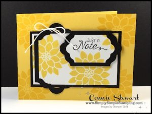 FLASH CARD VIDEO - Just a Note created with Lots of Labels Framelits - www.SimplySimpleStamping.com - look for the May 26, 2017 blog post