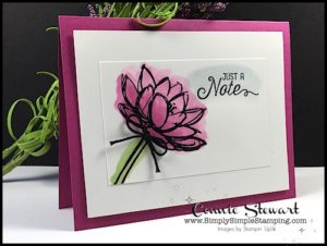 MAKE IT IN MINUTES VIDEO - Watercolored Just a Note Card - www.SimplySimpleStamping.com - look for the June 2, 2017 blog post