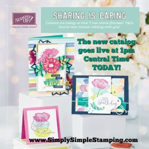 The 2017-2018 Stampin' Up catalog goes live tomorrow, June 1st! I would love to be your Stampin' Up demonstrator! www.SimplySimpleStamping.com