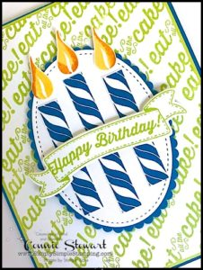 Make It Monday - BRIGHTS BIRTHDAY BANNER - download the FREE tutorial at www.SimplySimpleStamping.com - look for the June 12, 2017 blog post!