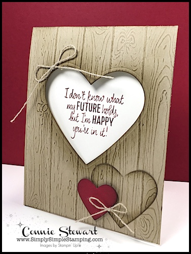 MAKE IT IN MINUTES – Pinewood Planks Heart Card