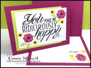 MAKE IT IN MINUTES VIDEO - You Make Me Ridiculously Happy Card - www.SimplySimpleStamping.com - look for the June 9, 2017 blog post