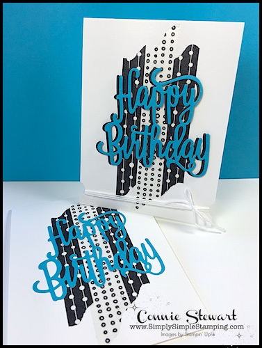 Now or WOW – Happy Birthday Washi Card