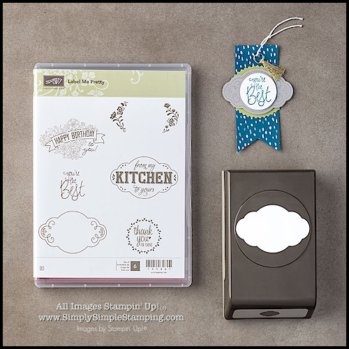2-Minute Tuesday Tip Video - Creating Layers with the Pretty Label Punch - www.SimplySimpleStamping.com - look for the July 18, 2017 blog post!