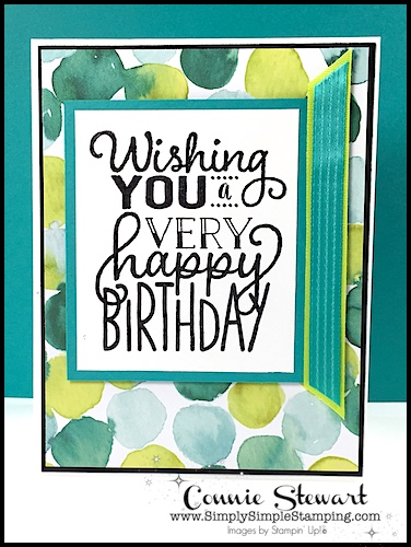 Make It Monday - WISHING YOU A VERY HAPPY BIRTHDAY - download the FREE tutorial at www.SimplySimpleStamping.com - look for the July 3, 2017 blog post!