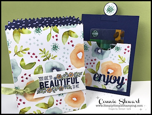 Connie's Stamp-Cation – You Are So Beautiful Gift Card Holder Tutorial