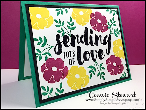 Connie's Stamp-Cation – Sending Lots of Love Tutorial