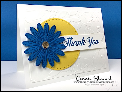 Connie's Stamp-Cation – Gerber Daisy Thank You Card