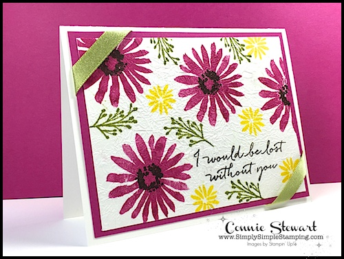 TEACH Me That! Learn the FAUX LINEN TECHNIQUE at www.SimplySimpleStamping.com - look for the July 20, 2017 blog post