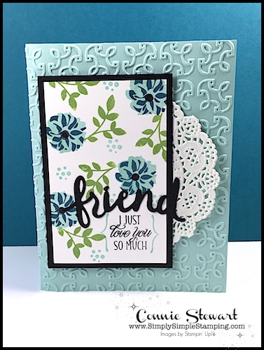 FLASH CARD VIDEO - Elegant Friend - Create this card in a flash - see the video at www.SimplySimpleStamping.com - July 21, 2017 blog post