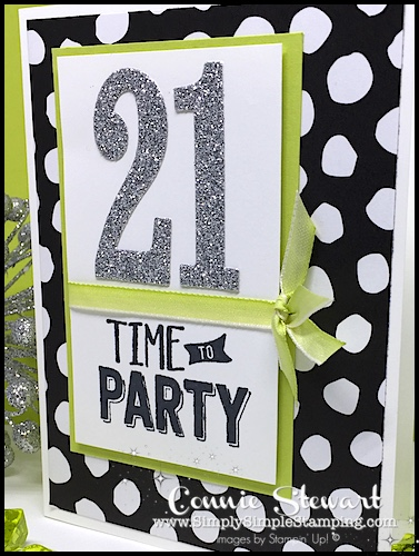 Make It Monday - TIME TO PARTY BIRTHDAY CARD - download the FREE tutorial at www.SimplySimpleStamping.com - look for the July 24, 2017 blog post!