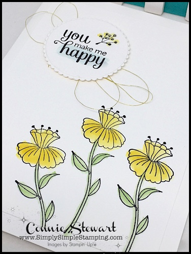 Make It Monday - YOU MAKE ME HAPPY WATERCOLOR CARD - download the FREE tutorial at www.SimplySimpleStamping.com - look for the August 7, 2017 blog post!
