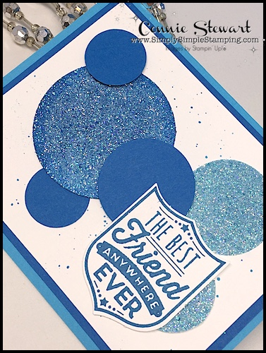 2-Minute Tuesday Tips AQUA PAINTER AUGUST - learn how to custom color Glimmer paper - www.SimplySimpleStamping.com - August 8, 2017 blog post
