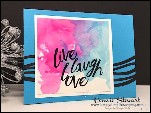 TEACH Me That! Learn how to create the MARBLEIZED ALCOHOL INK TECHNIQUE at www.SimplySimpleStamping.com - look for the August 10, 2017 blog post