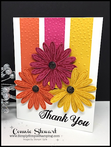 Create this stunning card with the DAISY DELIGHT BUNDLE - to see more photos, watch the video, or get the measurements, go to www.SimplySimpleStamping.com and look for the August 11, 2017 blog post