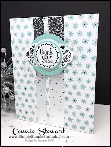 Make It Monday - Cover up those pesky mistakes by creating this THANK YOU FOR CARING CARD - download the FREE tutorial at www.SimplySimpleStamping.com - look for the August 14, 2017 blog post!