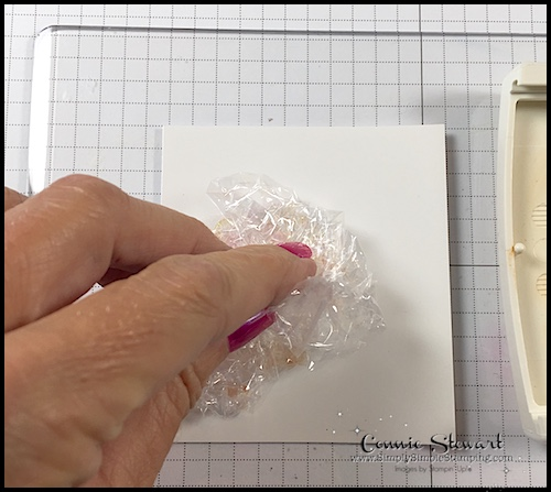 TEACH Me That! Learn how to create the PLASTIC WRAP TECHNIQUE at www.SimplySimpleStamping.com - look for the August 17, 2017 blog post