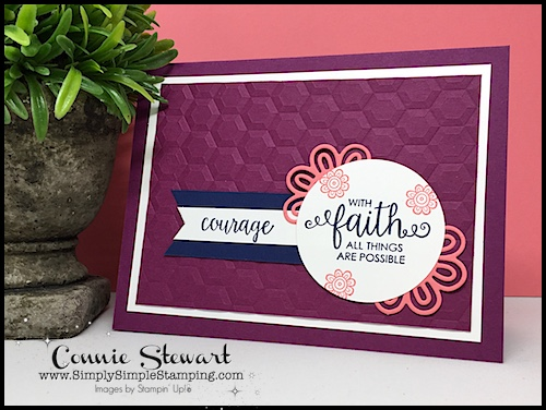 Make It Monday - Create this lovely WITH FAITH ALL THINGS ARE POSSIBLE card - download the FREE tutorial at www.SimplySimpleStamping.com - look for the August 21, 2017 blog post!