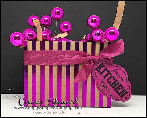 Make It Monday - Create this gorgeous FOIL FRENZY TREAT BOX - download the FREE tutorial at www.SimplySimpleStamping.com - look for the August 28, 2017 blog post!