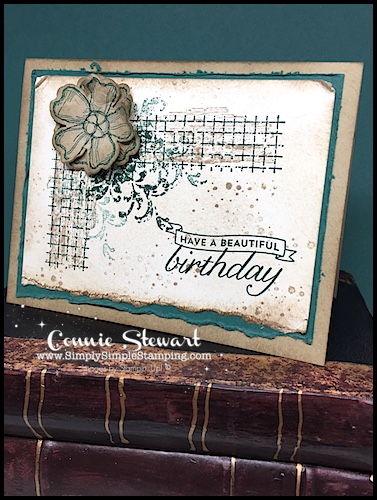 2-Minute Tuesday Tips AQUA PAINTER AUGUST - Create the most beautiful distressed edges - www.SimplySimpleStamping.com - August 29, 2017 blog post