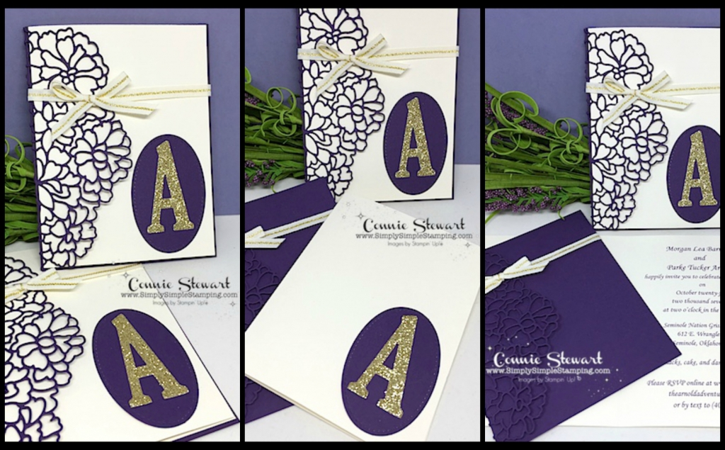 Wedding invitations - So Detailed thinlits - www.SimplySimpleStamping.com - August 22, 2017 blog post
